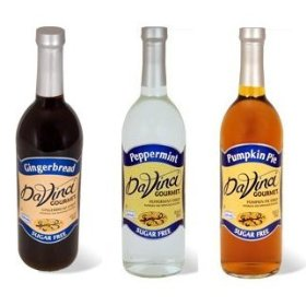 Da Vinci Sugar Free Set:Gingerbread,Peppermint & Pumpkin Syrups